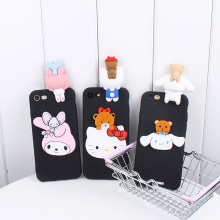 For Apple iPod touch5 Cute 3D KT phone Cases For iPod touch6 Cartoon Hello Kitty / Melody / bear Soft case back cover(China)
