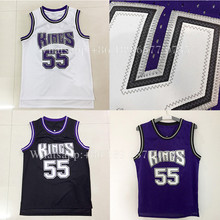 wholesale hot sale Retro  Jason Williams 55# Throwback Basketball Jersey 100% Stitched Embroidery Logos jerseys fast shipping