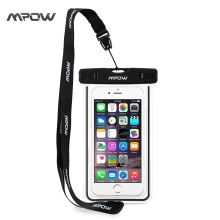 Mpow Universal Waterproof Case for iPhone 6 Plus Smartphone Dry Bag Dirtproof Ski 3 Color Snowproof Pouch for Android Xiaomi(China)