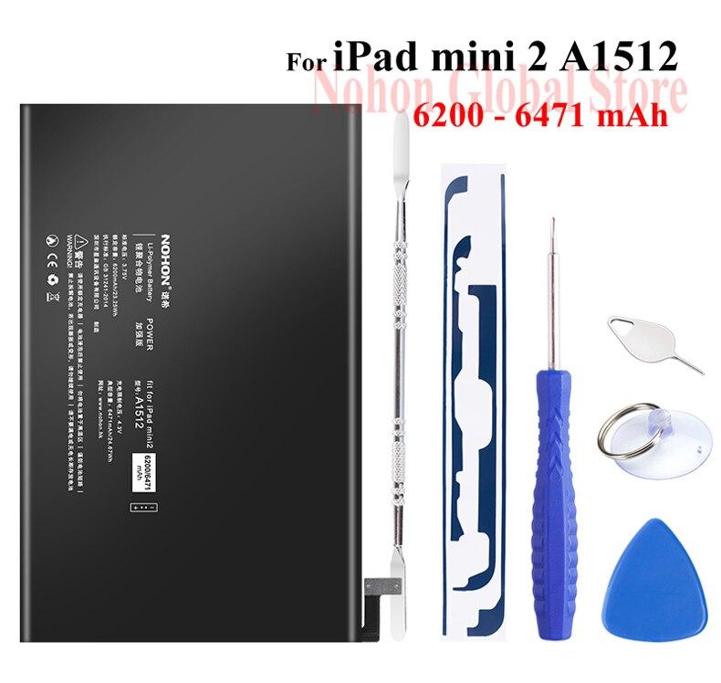 Nohon Battery For iPad mini 2 3 A1512 mini2 mini3 6200-6471mAh A1489 A1490 A1491 A1599 Bateria For Apple iPad mini 2 3 Batteries Details (03)