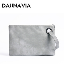DAUNAVIA Fashion women's clutch bag leather women envelope bag clutch evening bag female Clutches Handbag free shipping ND001(China)