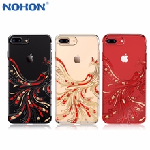 Swarovski Rhinestone Phone Case Cover For iPhone 7 6s 6/ 7 6 6s plus Red Phoenix Hard PC Diamond Electroplating crystal Cases