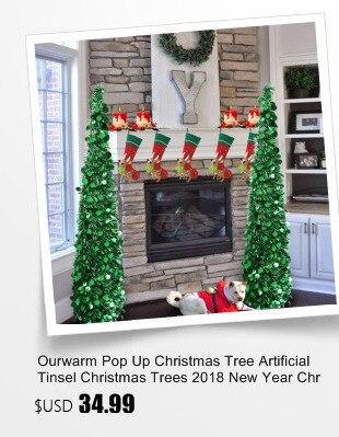 Ourwarm 18 DIY Felt Christmas Tree Pendant Drop Ornaments New Year Gift for Children Kids Door Wall Hanging Xmas Decoration 17