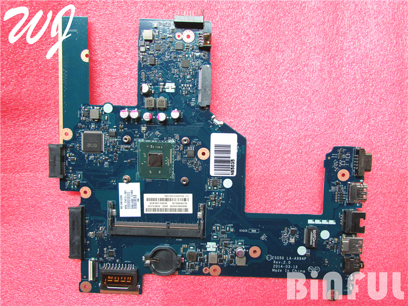 for HP 250 laptop motherboard ZSO50 LA-A994P 774711-001 774711-501 CELN2830u 100% fully tested