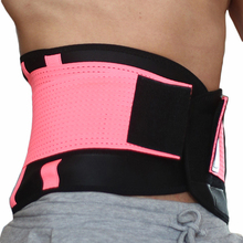 2017 Sports Waist Support Breathable Women Neoprene Gym Waist Trimmer Belt Adjustable Slimming Fitness Belt Sports 7 Colors(China)