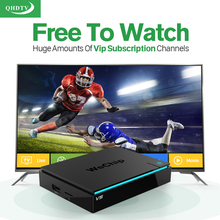 IPTV Set Top Box Android 6.0 TV 2G+16G Media Player + QHDTV Account Arabic Europe French Subscription 1 Year - Top-rated Electronic Mixshop store