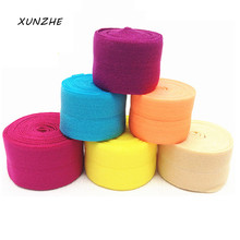 2Cm*10m Colored Flat Sewing Elastic Band For Underwear Pants Bra Rubber Clothes Decorative Adjustable Soft Waistband Elastic(China)