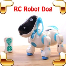New Arrival Gift RC Robot Dog Remote Control Intelligence Game Dancing Singing Machine Electric Toys Present Radio Animal Pet(China)