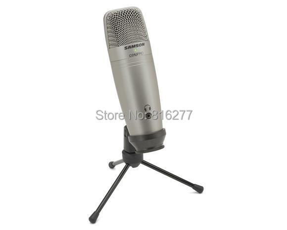 Samson C01U Pro USB Studio Condenser Microphone with Real-time monitoring large diaphragm condenser microphone for broadcasting(China (Mainland))