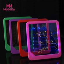 MUQGEW Creative LED Home Luminous Board Handwritten Fluorescence Plate Acrylic LED Board Light Up Drawing Writing Toy Gifts(China)