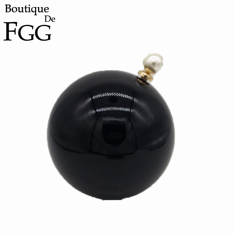 Famous Brand Round Circular Ball Women White Acrylic Clutch Bag Evening Bags Perfume Bottle PU Chain Shoulder Handbags Purses<br><br>Aliexpress