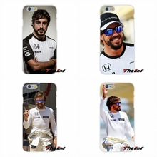 For Samsung Galaxy S3 S4 S5 MINI S6 S7 edge S8 Plus Note 2 3 4 5 Silicone Cell Phone Case Amazing F1 driver Fernando Alonso
