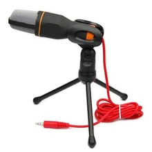 Wired Stereo Sound Studio Mics Microphones Condenser Microphone Karaoke Microfone with Stand Holder Clip for PC Laptop Notebook