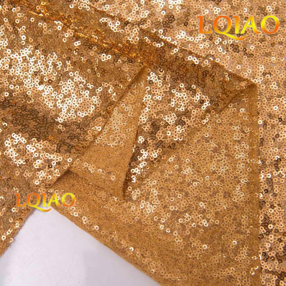 Gold Sequin Curtain-002