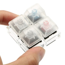 4 Key Caps Mechanical Keyboard Switches Tester Sampler Acrylic Caps Clear Translucent Keycaps Kit For Cherry MX Testing Tool