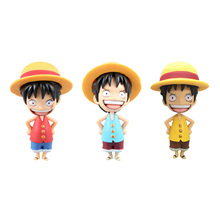 Chanycore Anime ONE PIECE Action Figures POP Portrait of pirates 3Styles Monkey D. Luffy childhood collect toys