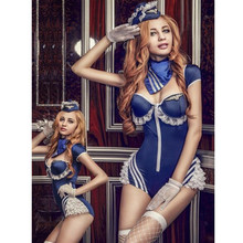Buy Airline Stewardess Uniform Women Sexy Lingerie Cosplay Halloween Airline Stewardess Cosplay Fancy Dress Exotic Apparel 9916