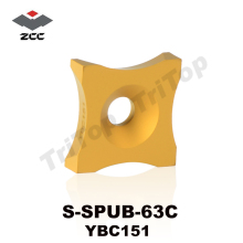 Original ZCC.CT S-SPUB-63C YBC151 Tungsten Carbide burring Insert cutter Chip removing steel tube pipe(China)
