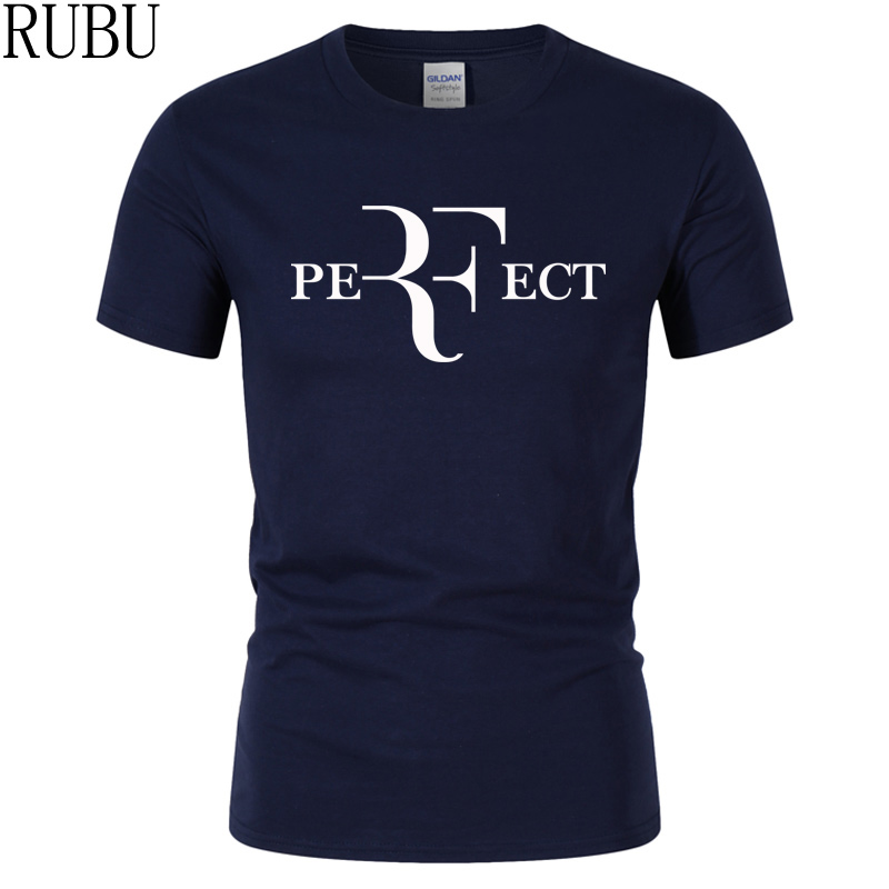 RUBU 2017 Roger Federer RF Men T Shirts Cotton O Neck Short Sleeves casual T shirts American Apparel Mens Shirt Wholesale Top (China)