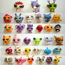 10-1000pcs/lot LPS cute quality pet shop toy cat dog Dachshund lion littlest horse girl child's gift Head can move