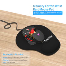 ORICO MP01-BK Natural Rubber Cloth Home Office Game Memory Cotton Wrist Rest Mouse Pad