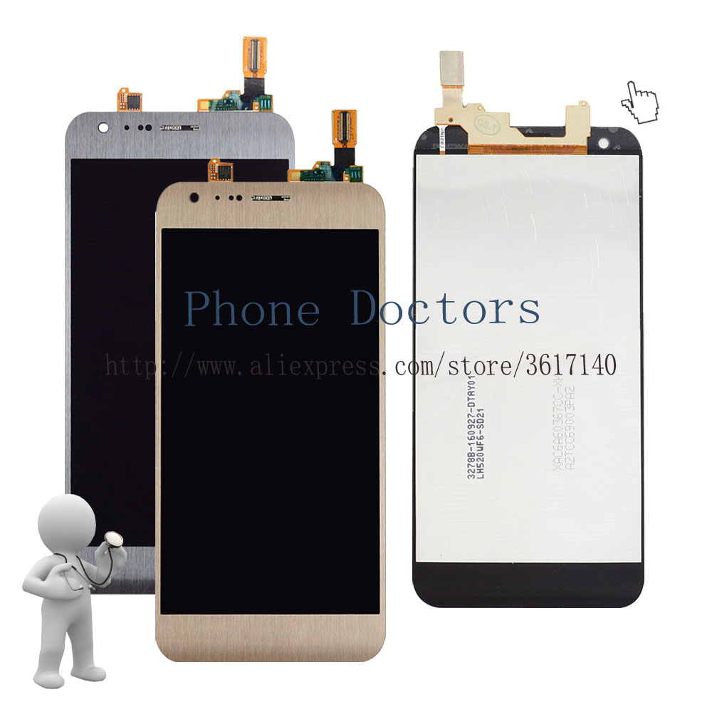 5.2'' Full LCD DIsplay + Touch Screen Digitizer Assembly LG X cam LG-K580 K580 K580I K580Y ; Gold / Gray ; New ; Tracking