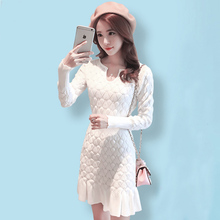 Buy Runway Women Winter Sexy Dress Long Sleeve Thicken Party Slim Fit Package Hip Hedging Knitted Sweaters Dresses women Hot Sale for $21.75 in AliExpress store