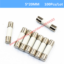 100 Pcs 5*20MM Ceramics Fuse Fast Blow 0.5A 1A 2A 3A 4A 5A-20A 5mm*20mm 250V Electrical Auto Fuse High Quality Protector
