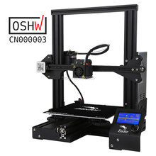 cheap 3d printer Creality Ender3/Ender-3X Upgraded Tempered Glass Optional,V-slot Resume Power Failure Printing DIY KIT Hotbed(China)