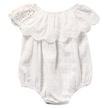 Cute Newborn Baby Girl Romper Clothes White Lace Playsuit Jumpsuit Outfit Summer Bebes Sunsuit 0-24M