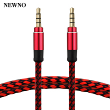 NEWNO AUX Audio Cable 3.5mm Jack 3.5 mm male to male High Quality Stereo AUX Cable Cord for Car Headphone Speaker Computer mp3