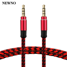 NEWNO AUX Audio Cable 3.5mm Jack 3.5 mm male to male High Quality Stereo AUX Cable Cord for Car Headphone Speaker Computer mp3(China)
