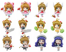 16 style 1pc Cute Nendoroid Card Captor Cardcaptor Sakura 7cm PVC Action Figure Set Model Collection Toy Gif