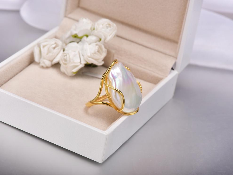 huge baroque pearl ring (7)