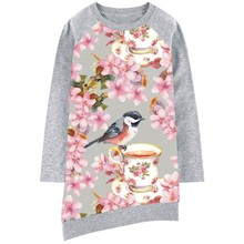 Baby girl dress Long sleeve Girls Dresses Print Children Designer Kids 2017 Clothes Girl clothing Casual new Fashion Kids(China)