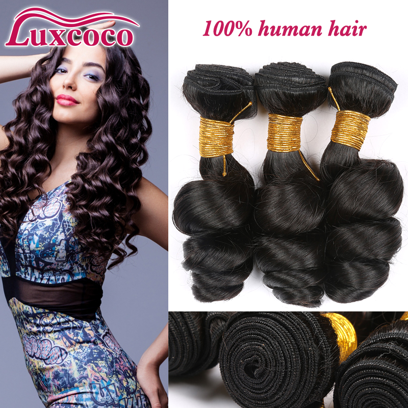 7A 100% Unprocessed Brazilian Loose Wave 3 Bundles Soft Brazilian Virgin Hair Loose Wave Super Quality Human Hair<br><br>Aliexpress