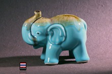 ceramic animal elephant Piggy bank home decor crafts kids room decoration objects dolls ornament porcelain animal figurines gift(China)