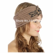 50pcs/lot Fashion Chic Headpiece Hair Band Embellished Knitted Beaded Hand Headband Headwrap