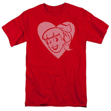Printed T Shirts Online O-Neck Trevco Archie Comics Betty Hearts Men Short Sleeve Print Tee(China)