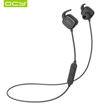 QCY QY12 sports ear hooks headphones wireless bluetooth V4.1 earphones magnet switch headset with Mic for iphone 6 7(China)