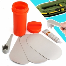 PVC Puncture Repair Patch Glue Kit Adhesive For Inflatable Dinghy Rib Boat Swimming Pools Float Air Bed Dinghies  Valve Wrench