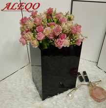 ALEQO Global Hot Sale Acrylic Flower Box luxury Rose Box Handmade Gift Flower Box  Flower Display Eternal flower container case
