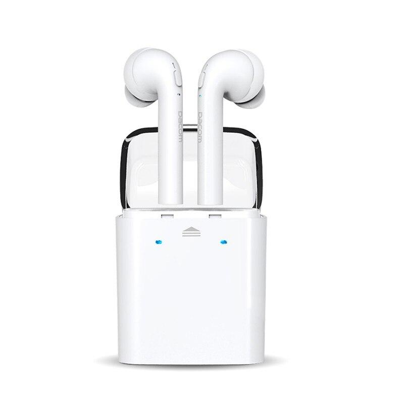 White Sport Earphones True Wireless Bluetooth Double Twins Earbuds Earphone For iPhone 7 <br><br>Aliexpress