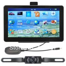 7 Inch Car GPS Navigation + Wireless Rearview Camera Bluetooth AV-IN Bundle latest New  Map
