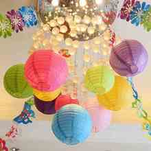 6 Inch (15cm) White Tiffany Blue Chinese Paper Lantern Balls for Decoration Festive Party Supplies Wedding Events Lampion Papier(China)