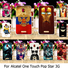 AKABEILA Hard Plastic Phone Case For Alcatel OneTouch Pop Star 3G 5022 OT5022 5022X 5022D OT-5022 One Touch Pop Star 5.0 inch