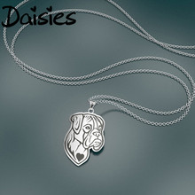Daisies Personalized Style Handmade Boxer Dog Face Puppy Pet Lovers Animal Unique Necklaces & Pendants Gift for Women and Girls