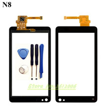 Original High Quality 3.5'' For Nokia N8 Touch Screen Digitizer Sensor Front Glass Lens panel + tools
