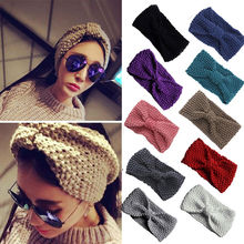 Hot sale winter knit headband for women girl headwear good quality girls head band crochet hairband warm head wrap