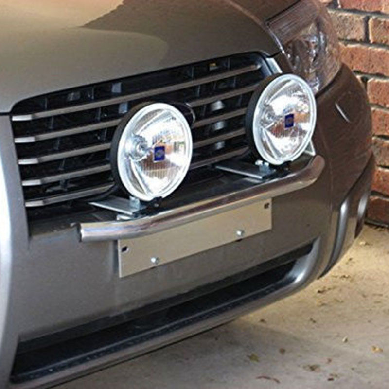 JXLCLYL Car Bull Bar Front Bumper License Plate Mount Bracket Light Holder Chrome
